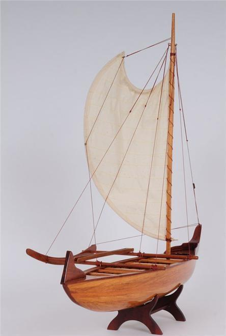 Model Canoe Hawaiian Wood Cedar New