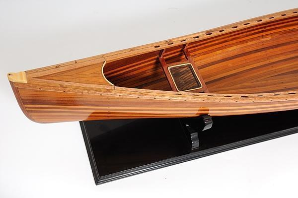 Model Boats Sailing Canadian Canoe Rattan