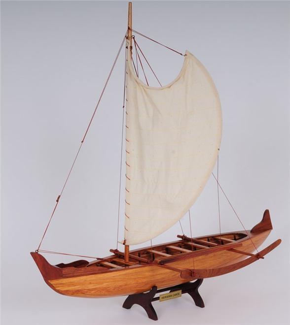 Model Canoe Hawaiian Cedar Wood New