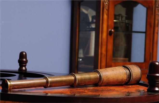 Telescope Hand-Held Wood Box New OM-13