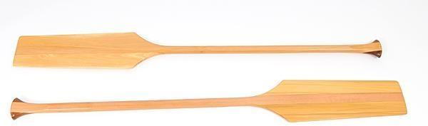Canoe Paddles Pair Fiberglass Varnish New