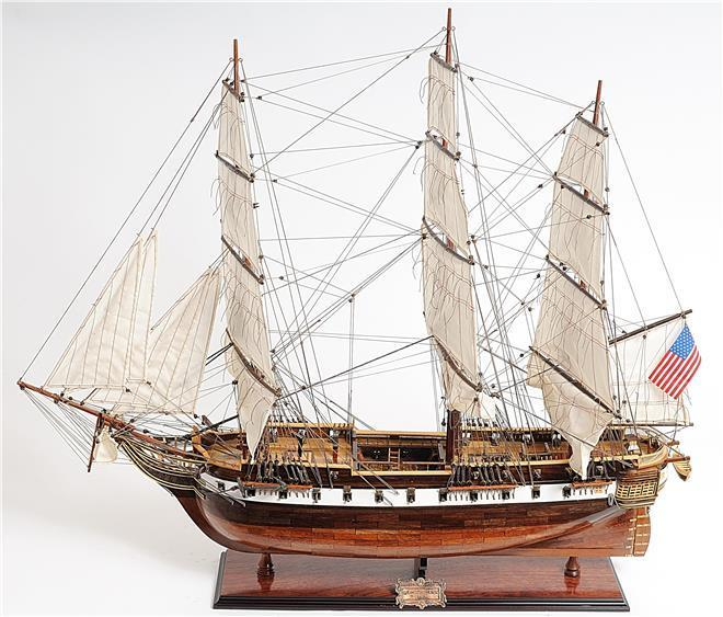 Model Ship USS Constellation Wood Base 100%