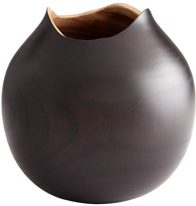 Vase CYAN DESIGN SOMBRA Large Black Wood New