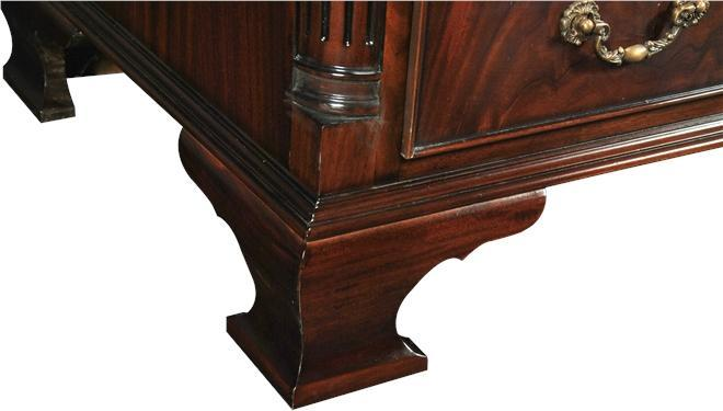 Secretary Desk Shaped Bracket Feet