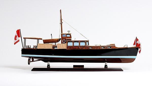Model Boat Dolphin Painted Western Red Cedar