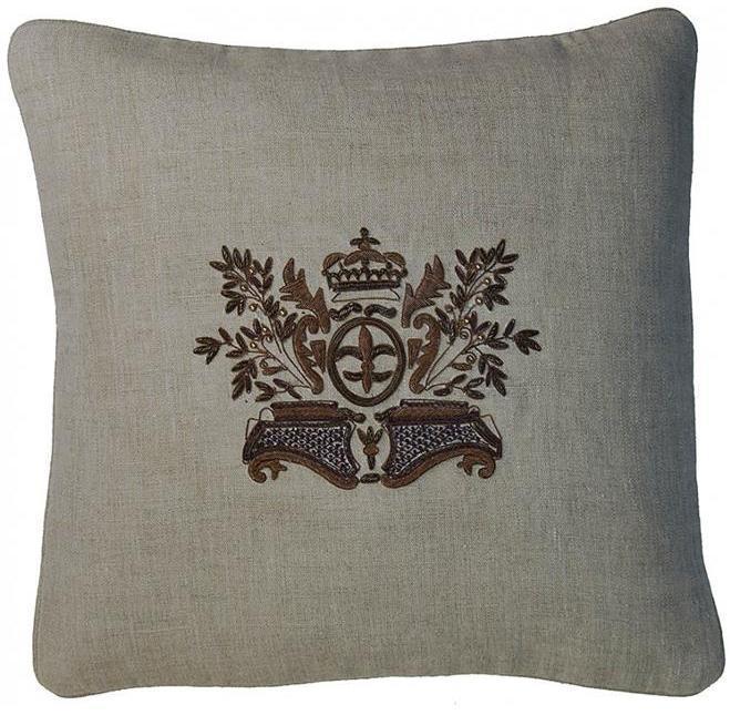 Pillow Zardozi Embroidery 18x18 Down/Feath