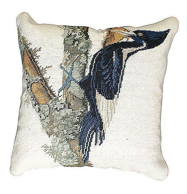 Throw Pillow Ivory Billed Woodpecker Bird