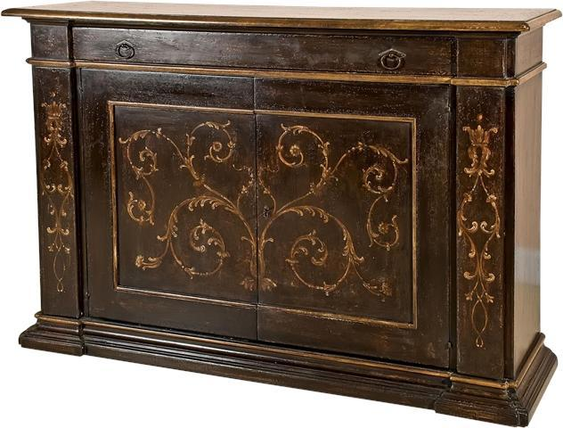 Sideboard DAVID MICHAEL Rustic Antique Black