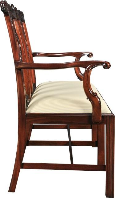 Chair Accent CAMBRIDGE Chippendale Tapered