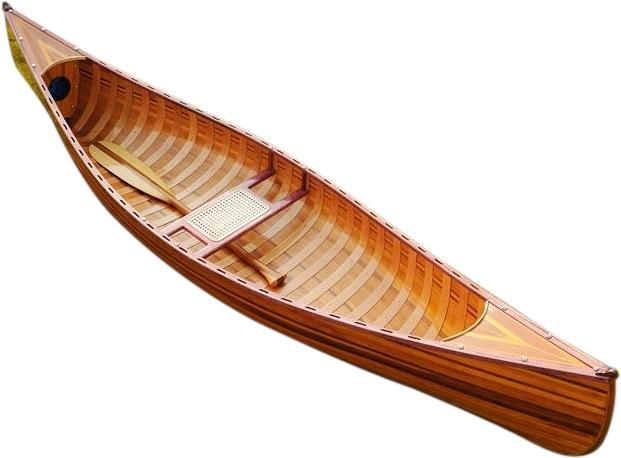 Canoe With Ribs Curved Bow 10-Ft Wooden
