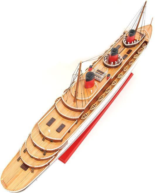 Model Ship Normandie Boats Sailing Large