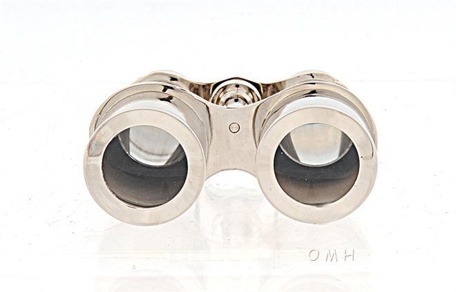 Binoculars Brass Leather New With Storage