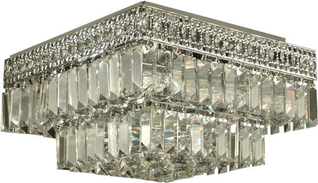 Dale Tiffany Solid Crystal Flush Mount Light