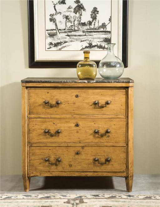 Chest of Drawers Biedermeier Canted Legs Top