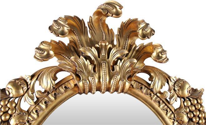 Wall Mirror French Rococo Gold Leaf Solid