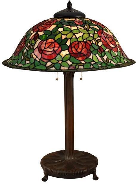 Table Lamp DALE TIFFANY Rose Bush 3-Light