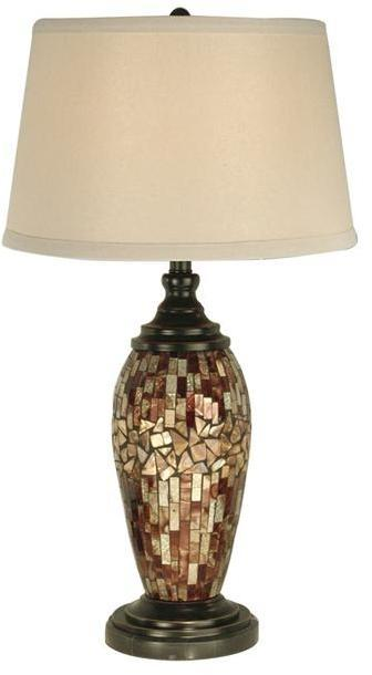 Table Lamp DALE TIFFANY Oval 1-Light Mosaic