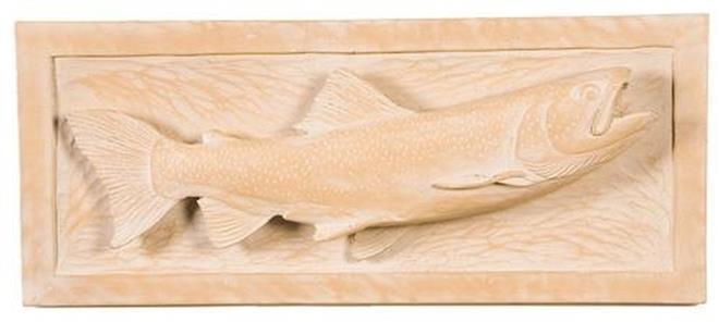 Plaque MOUNTAIN Rustic Trout Fish