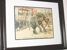 Circus Game in Annam colored old print French