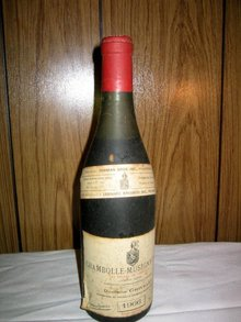 Chanbolle Musigny Bordeaux  1966