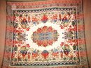 Antique exotic silk table clothe with Elephants