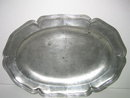 German Pewter Big Plate with Mark and Handle 18