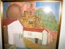 Mexican Village with people Signed