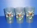 Biedermeier Glass Set of 3 -hand painted