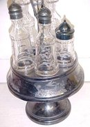 Aurora Cruet Canister Set Ornate Quadruple Silver Plated