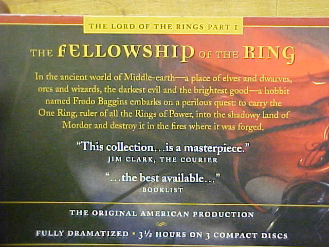 The Fellowship of the Ring CD Recorded Book Set