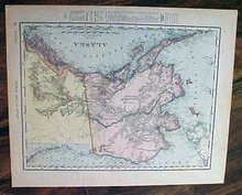 Map Alaska & Canada 1907 Antique