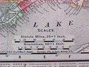Map Ontario & Quebec 1907 Rand McNally