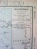 Map Nova Scotia & Manitoba 1907 Rand McNally