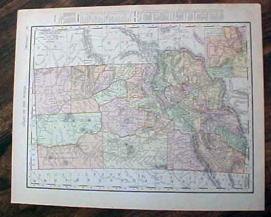 Map Nova Idaho & Montana 1907 Antique