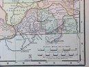 Map Washington & Oregon 1907 Antique