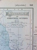 Antique Map Abyssinia & Oceania 1907