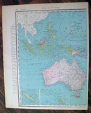 Antique Map Abyssinia & Oceania 1907