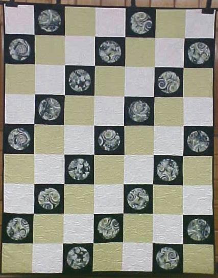 Quilt Abstract Art Titan Moon 55 x 69
