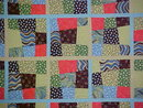 Quilt King Aqua Lime Brown Spot Crazy 101 x 102