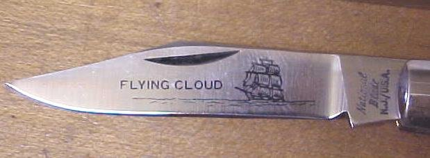 National Blade Hand Etched Knife Flying Cloud