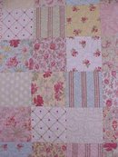 Baby Quilt Shabby Cottage Floral Pastel Pinks Greens and More