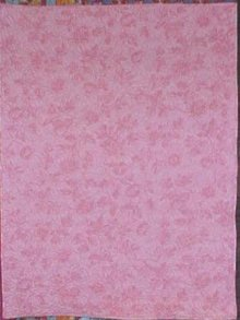 Wholecloth Baby Quilt Pink Roses Shabby Cottage Chic
