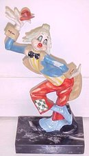 Clown on Marble Base Made in Italy Depose 945