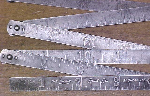 Lufkin Steel Folding Rule Zig Zag No. 1143 Rare!