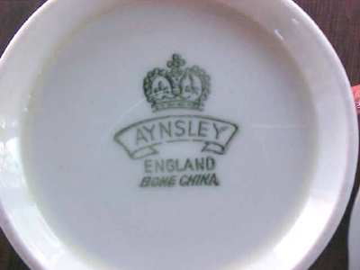 Aynsley Teacup & Saucer Beautiful Salmon
