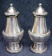 Ornate Silver Plated Salt & Pepper England
