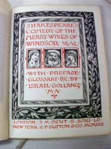 Shakespeare Merry Wives of Windsor 1917