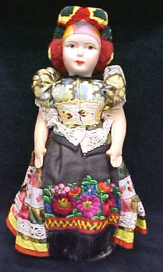 Ethnic Doll Vintage Colorful Costume