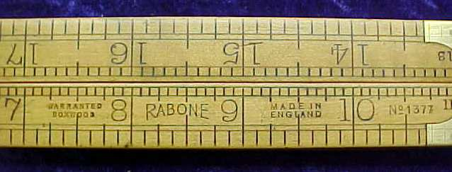 Rabone Arch Joint 2' Boxwood Rule No. 1377