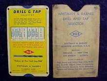 Whitman & Barnes Drill & Tap Selector